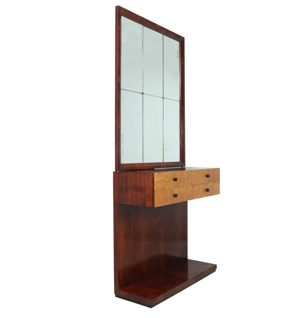 italian art deco console table with mirror c1930