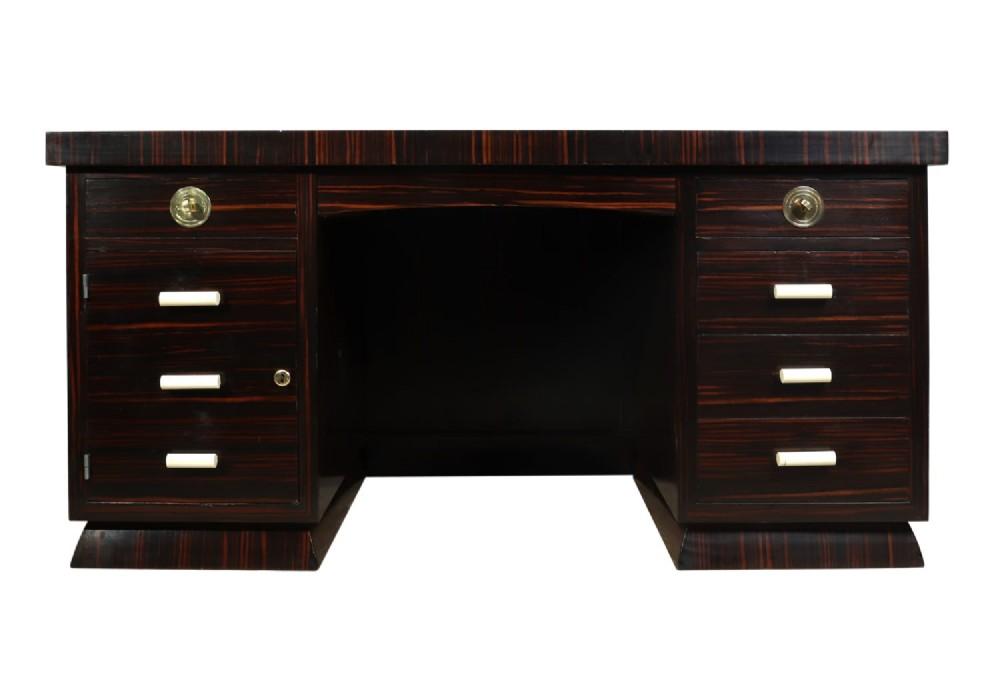 art deco desk in macassar ebony c1930