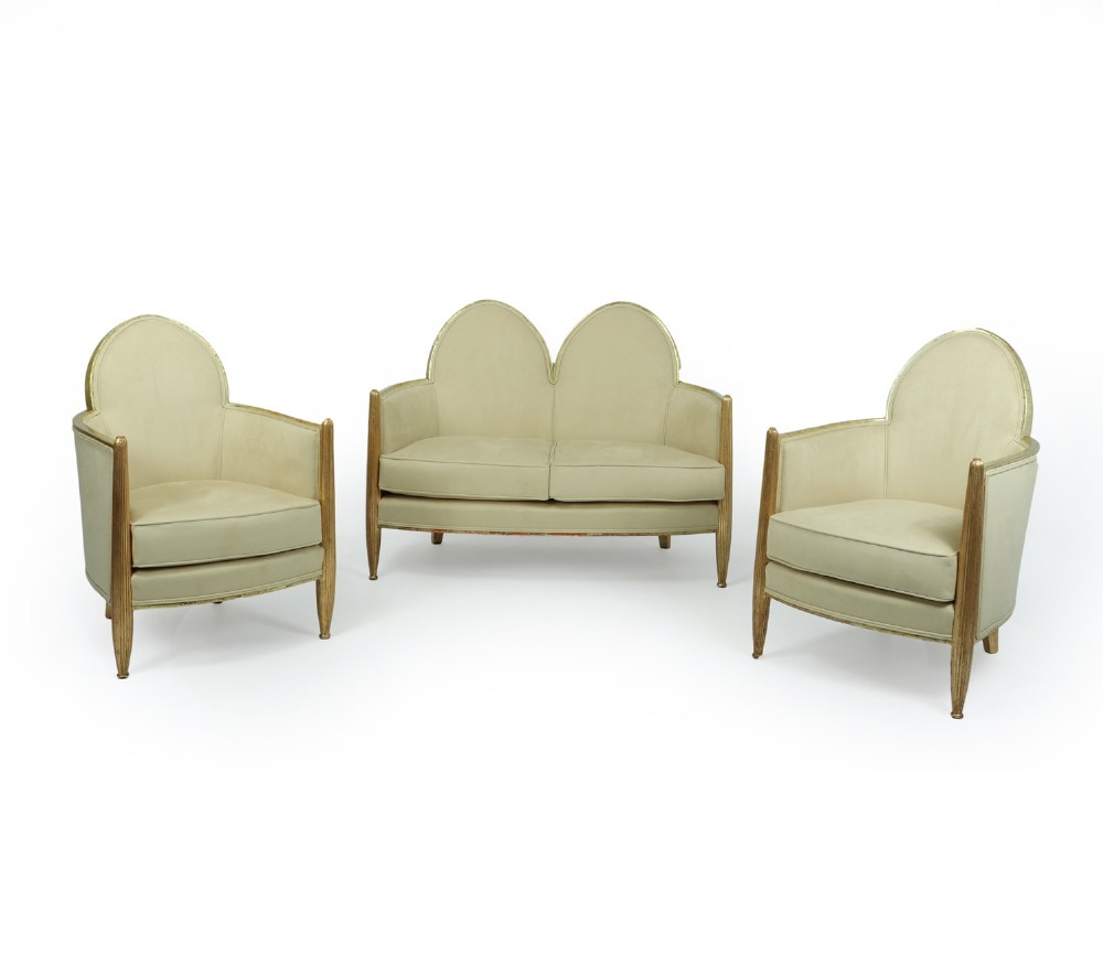 art deco giltwood salon suite attributed to paul follot c1925
