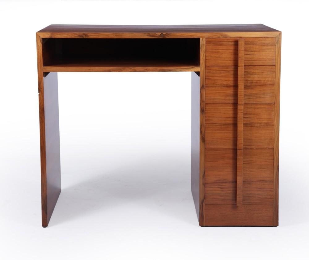 art deco desk in walnut c1930