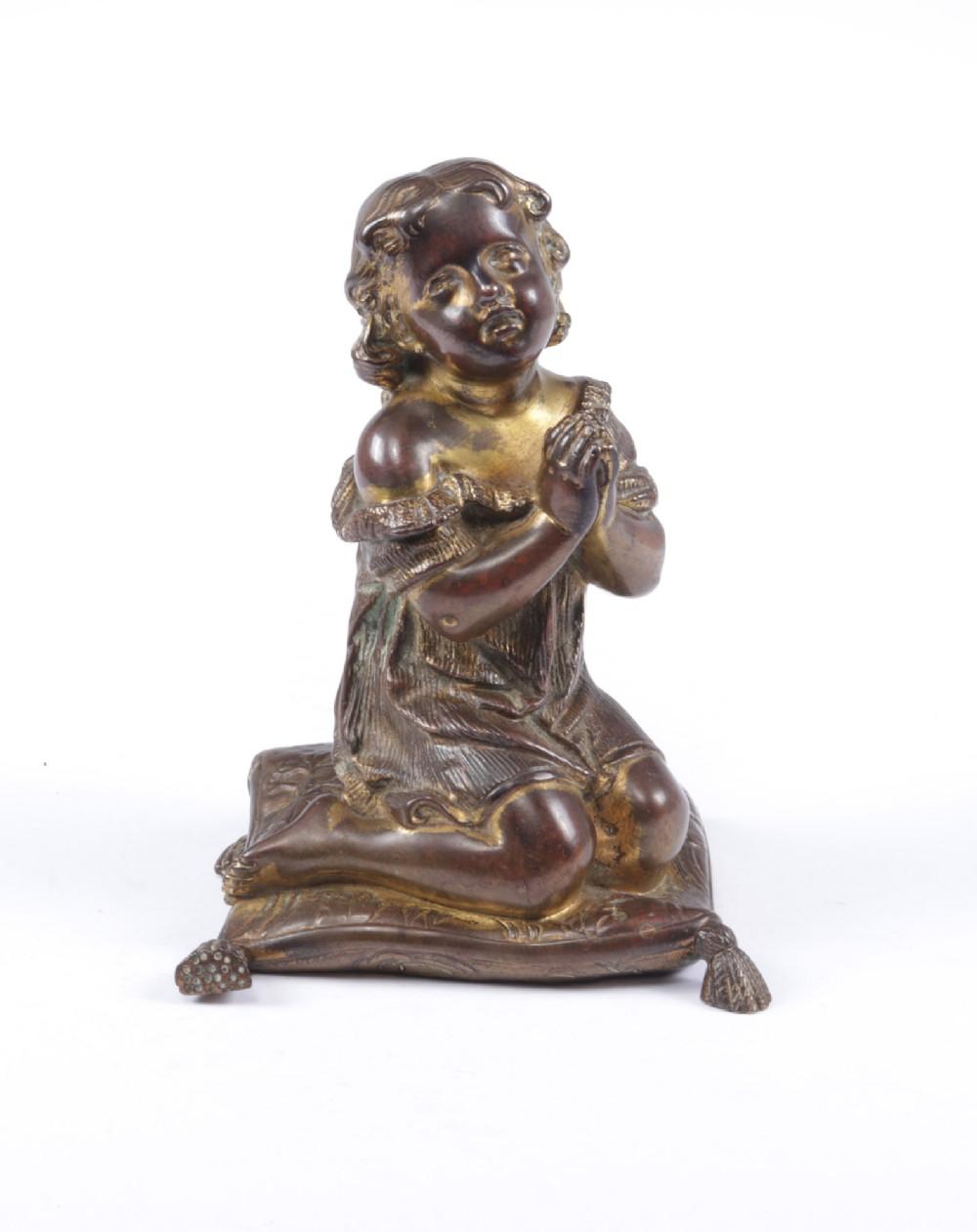 italian gilt bronze cherub c1860