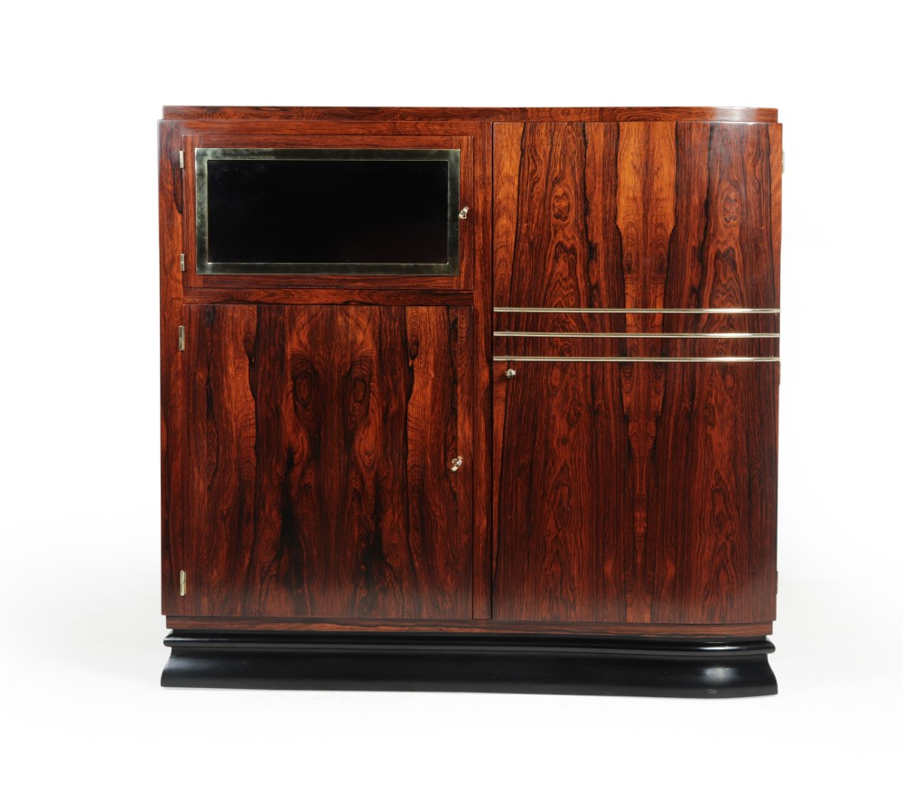 french art deco rosewood cabinet c1925