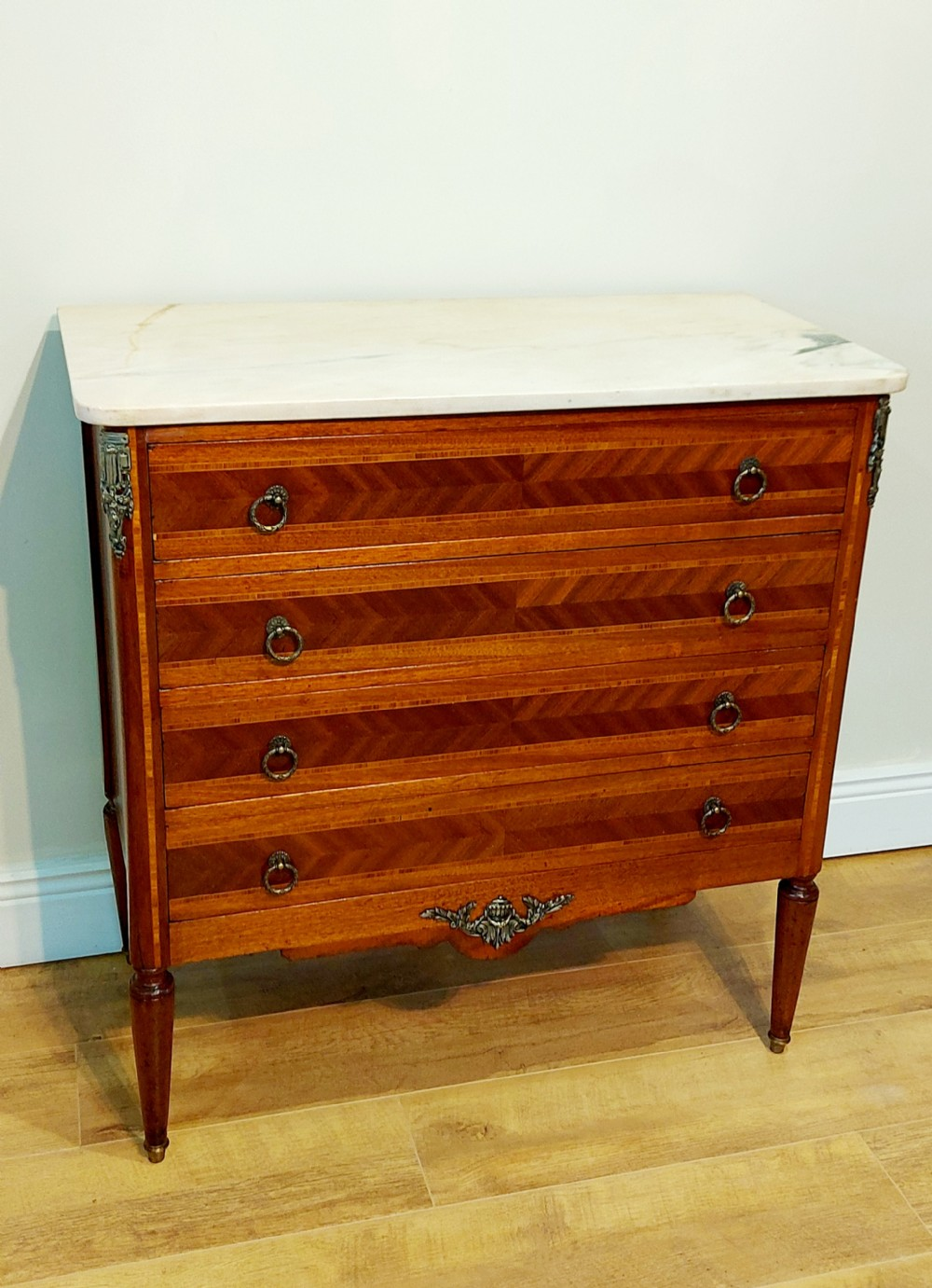 19th century french chest of drawers with marble top