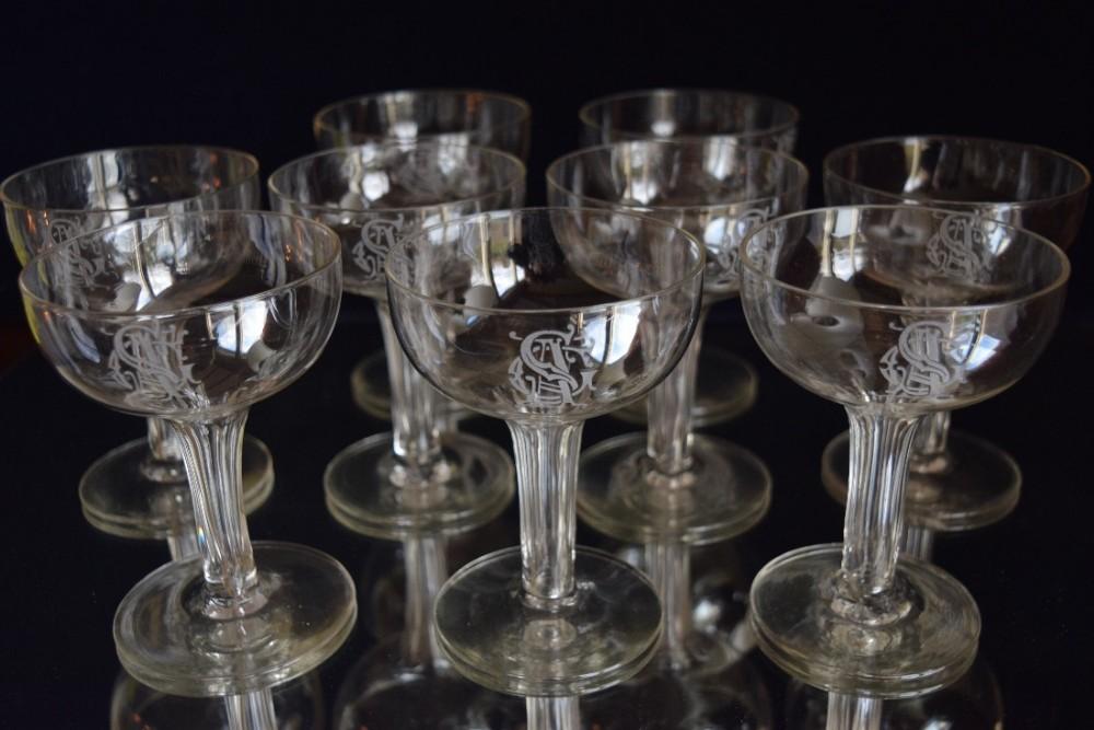9 victorian monogrammed hollow stem champagne glasses 455805 - Hollow stem champagne glasses ...