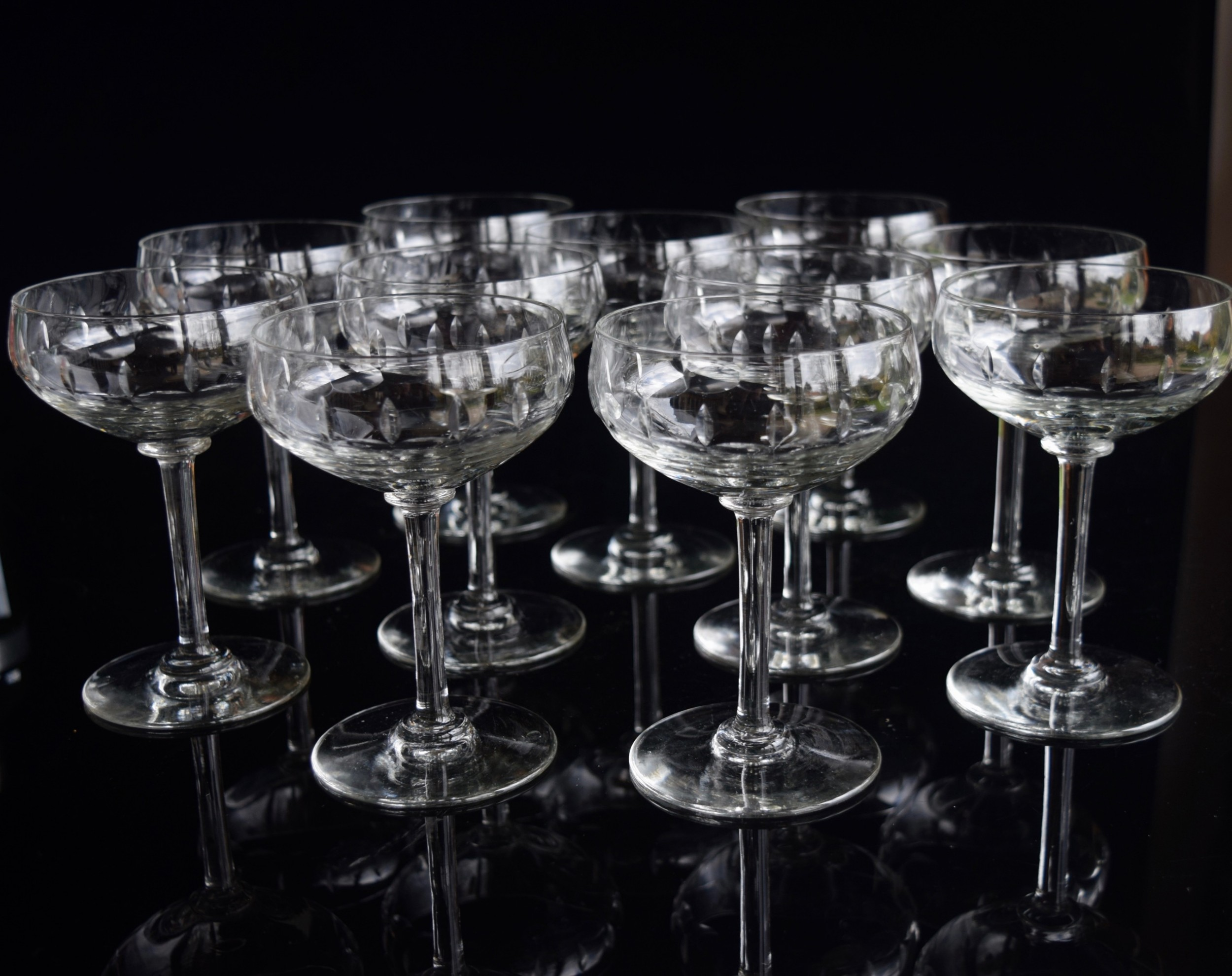 11 val saint lambert tall champagne glasses