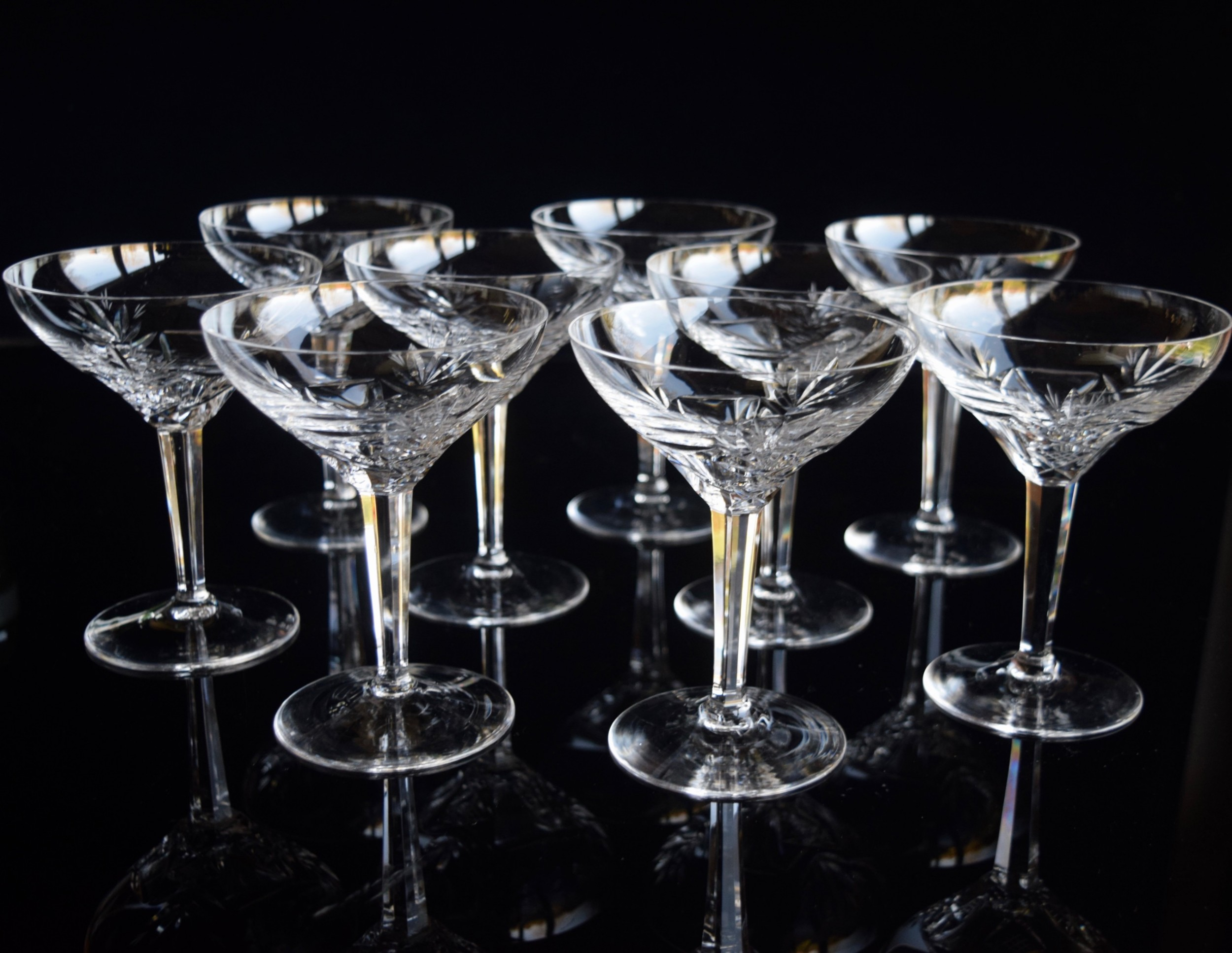 9 val saint lambert tall champagne glasses