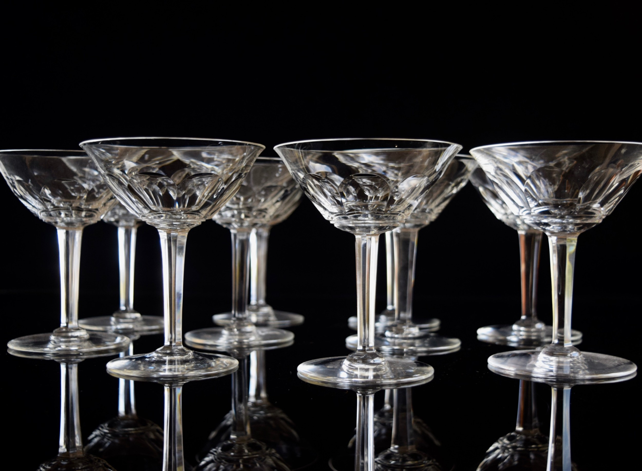 10 french champagne glasses exceptional