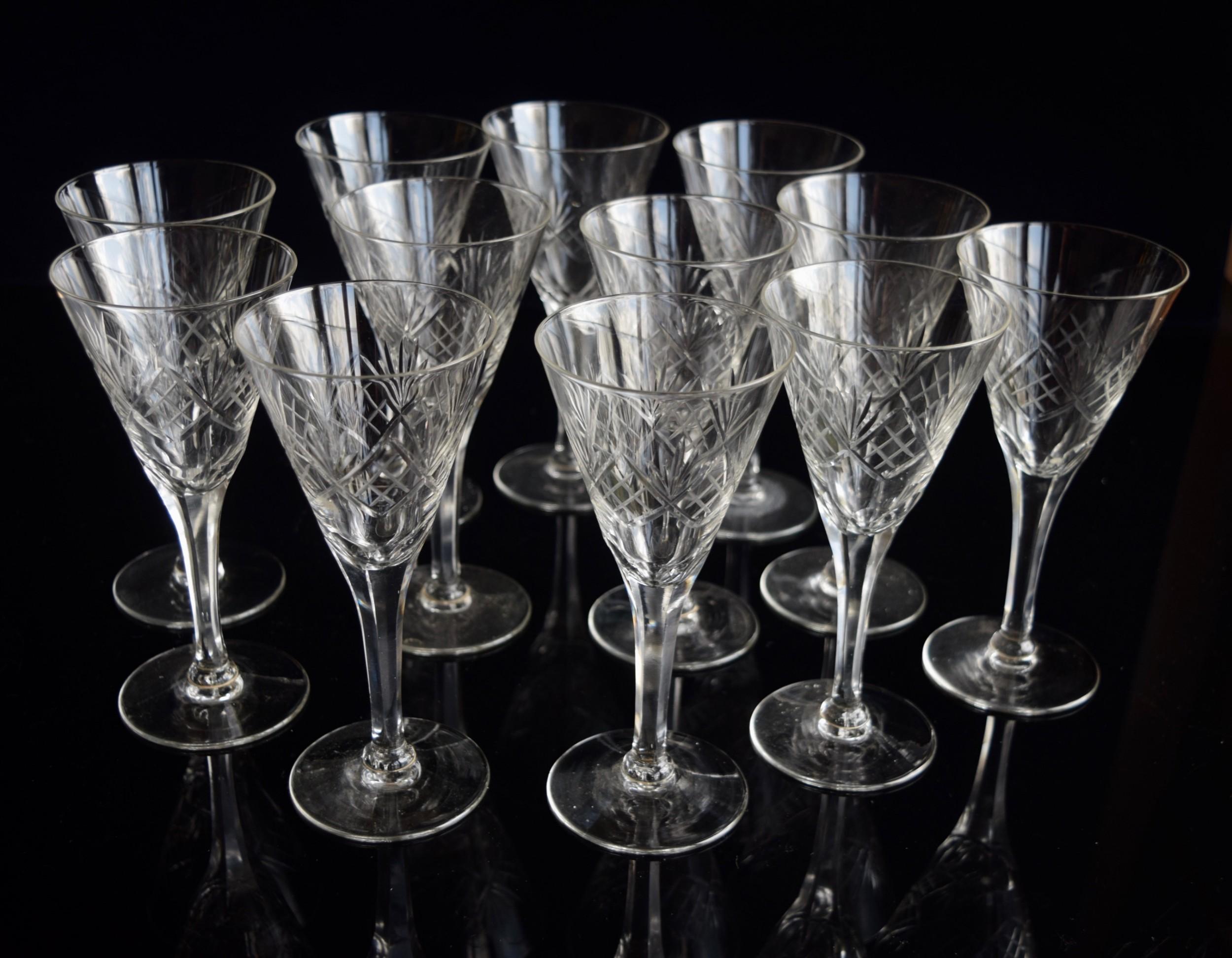 11 val saint lambert tall white wine glasses