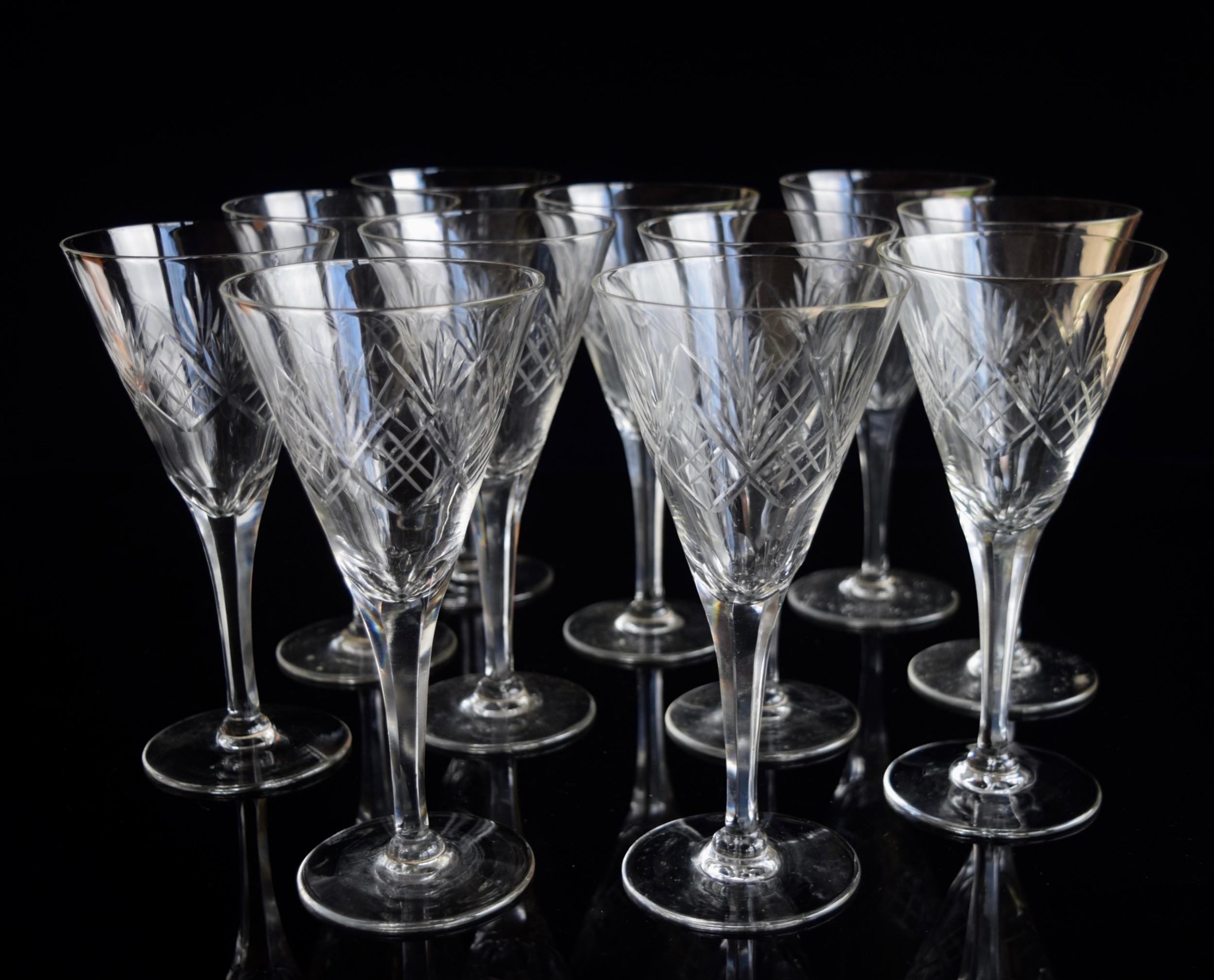 11 val saint lambert large water glasses