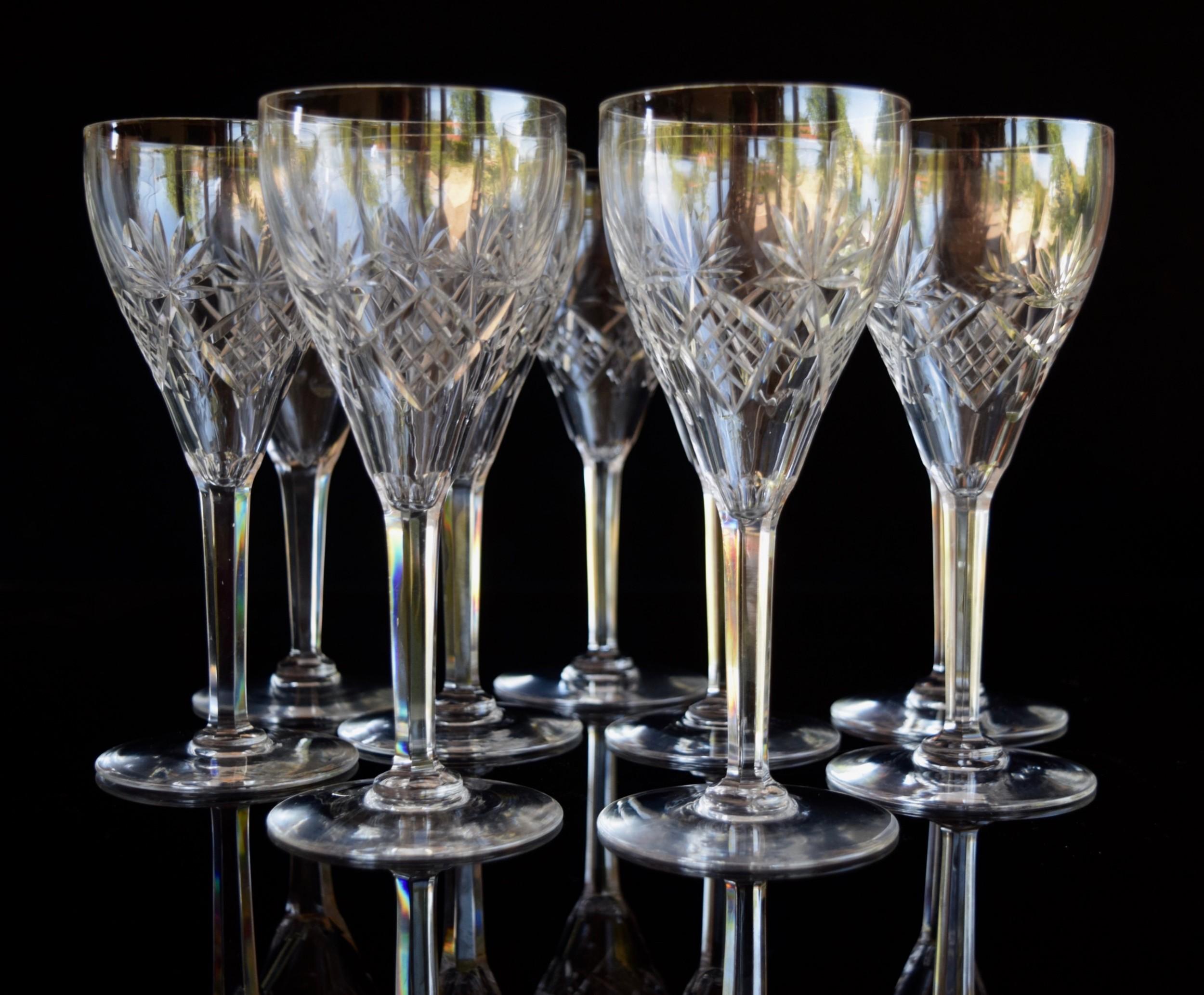 12 val saint lambert water glasses c1920s