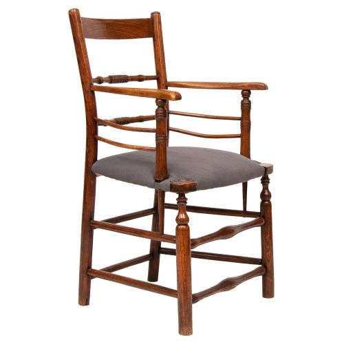 georgian sussex chair in french linen
