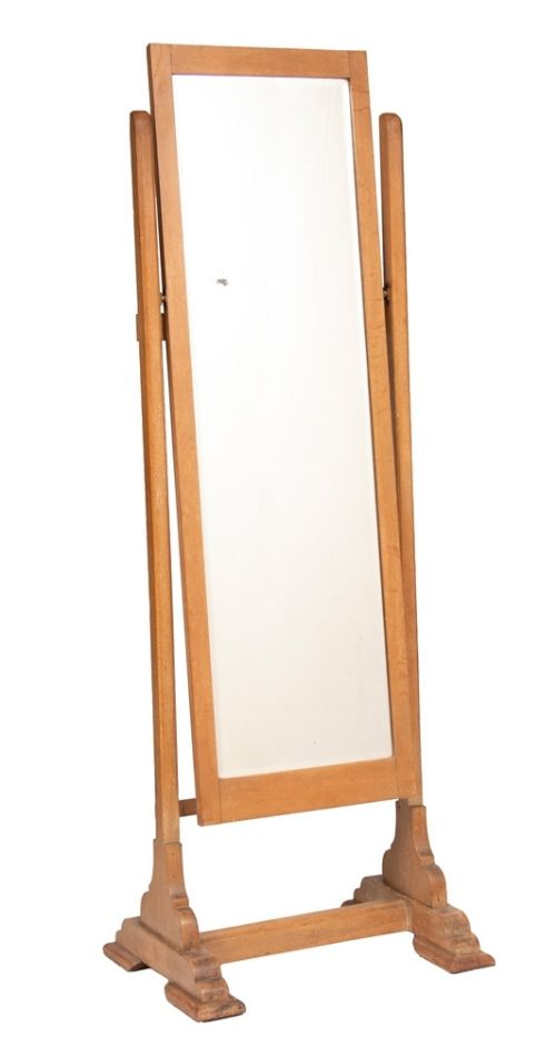 arts crafts limed oak cheval dressing mirror c1900