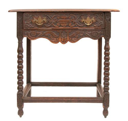 georgian oak carved side table