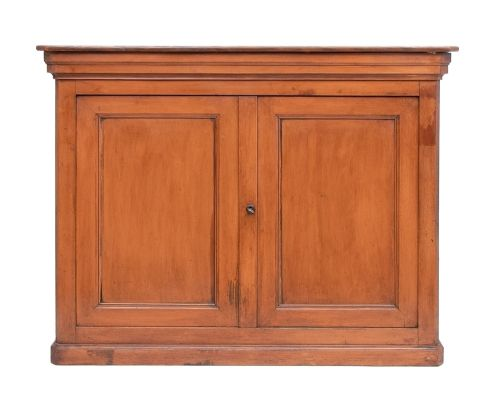 french panelled two door cupboard c1870