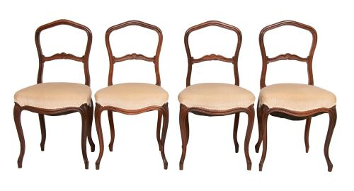 set of 4 antique victorian rosewood dining chairs c1880