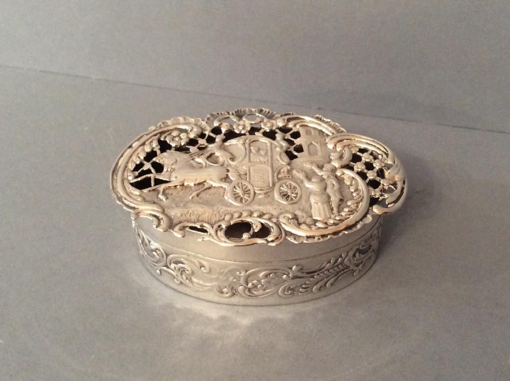 antique edwardian solid silver pot pourri box comyns