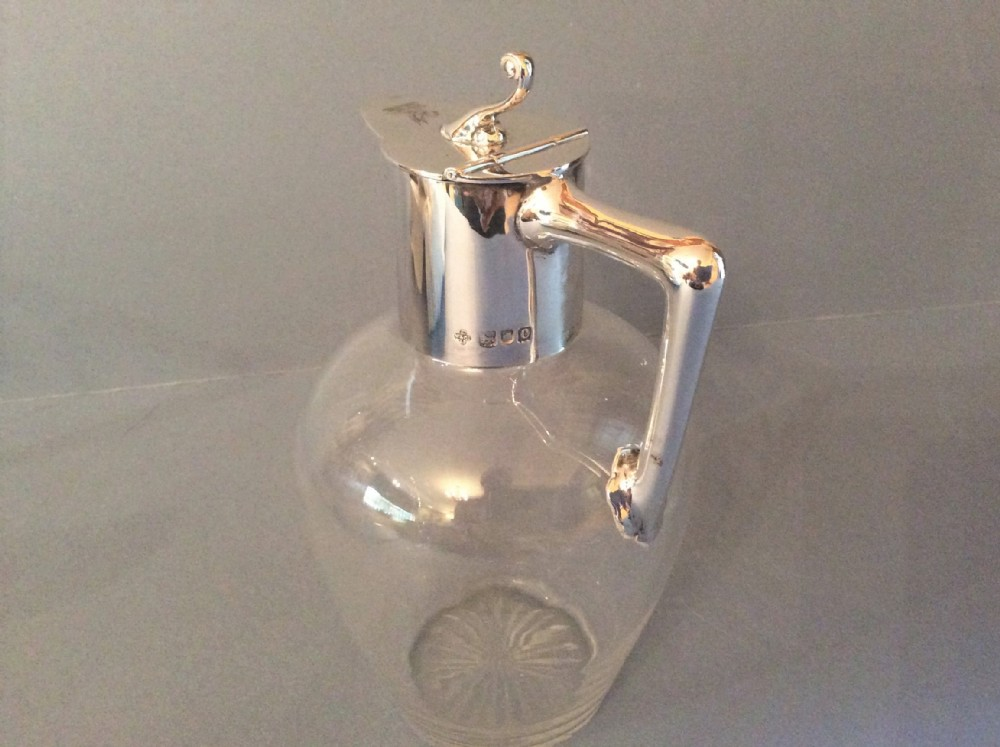 antique victorian solid silvermounted jug
