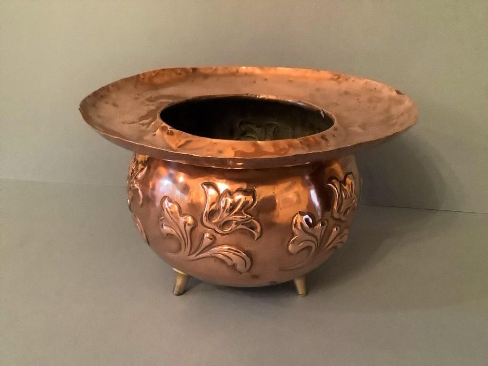 antique victorian copper jardiniere benham froud