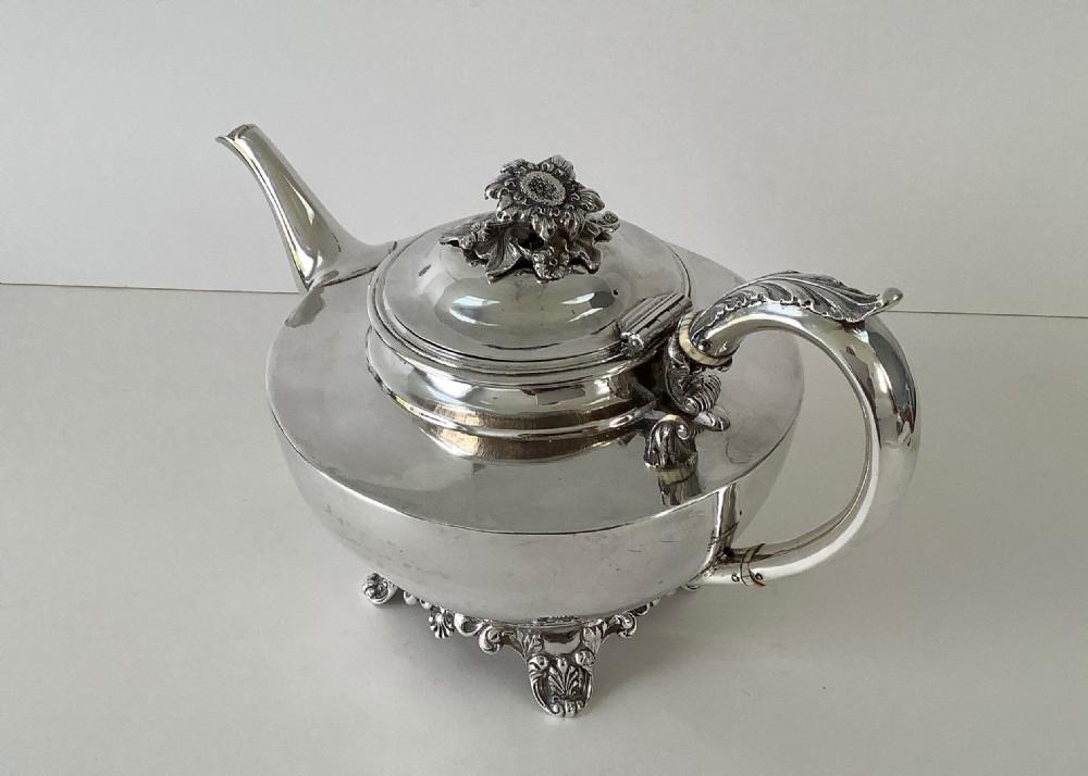 william iv silver teapot 1834