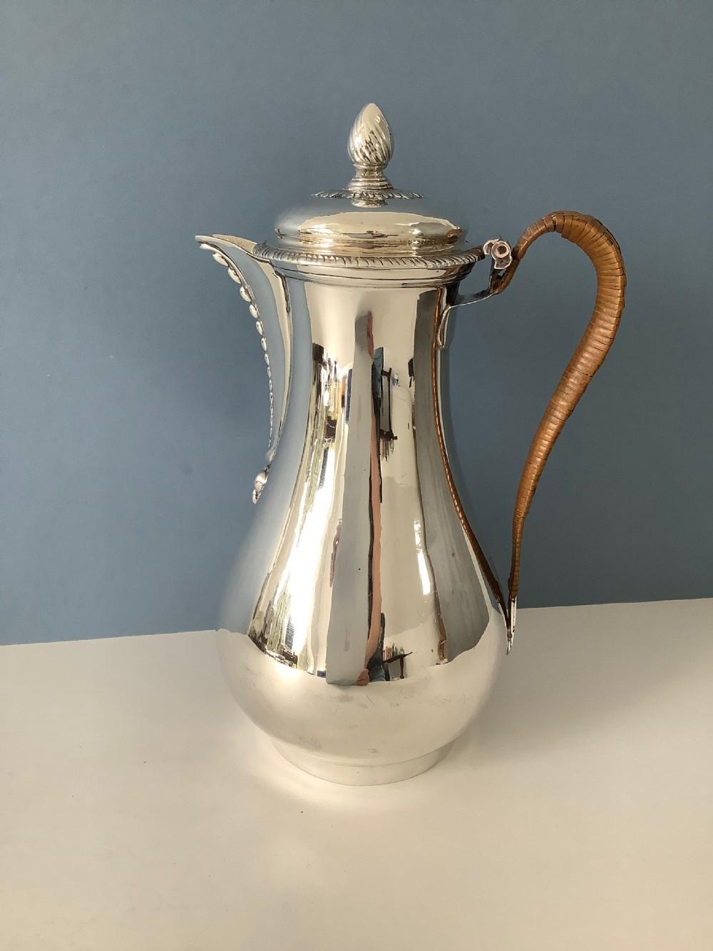 georgian silver coffee pot fogelberg