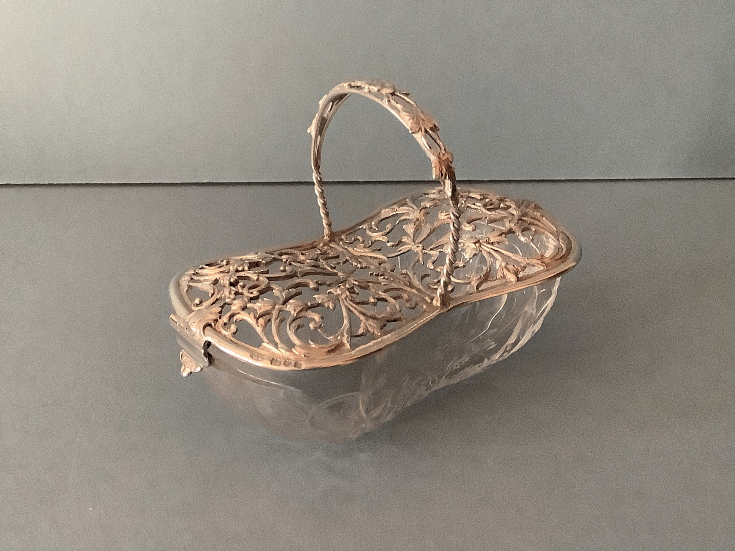 antique edwardian silver pot pourri basket