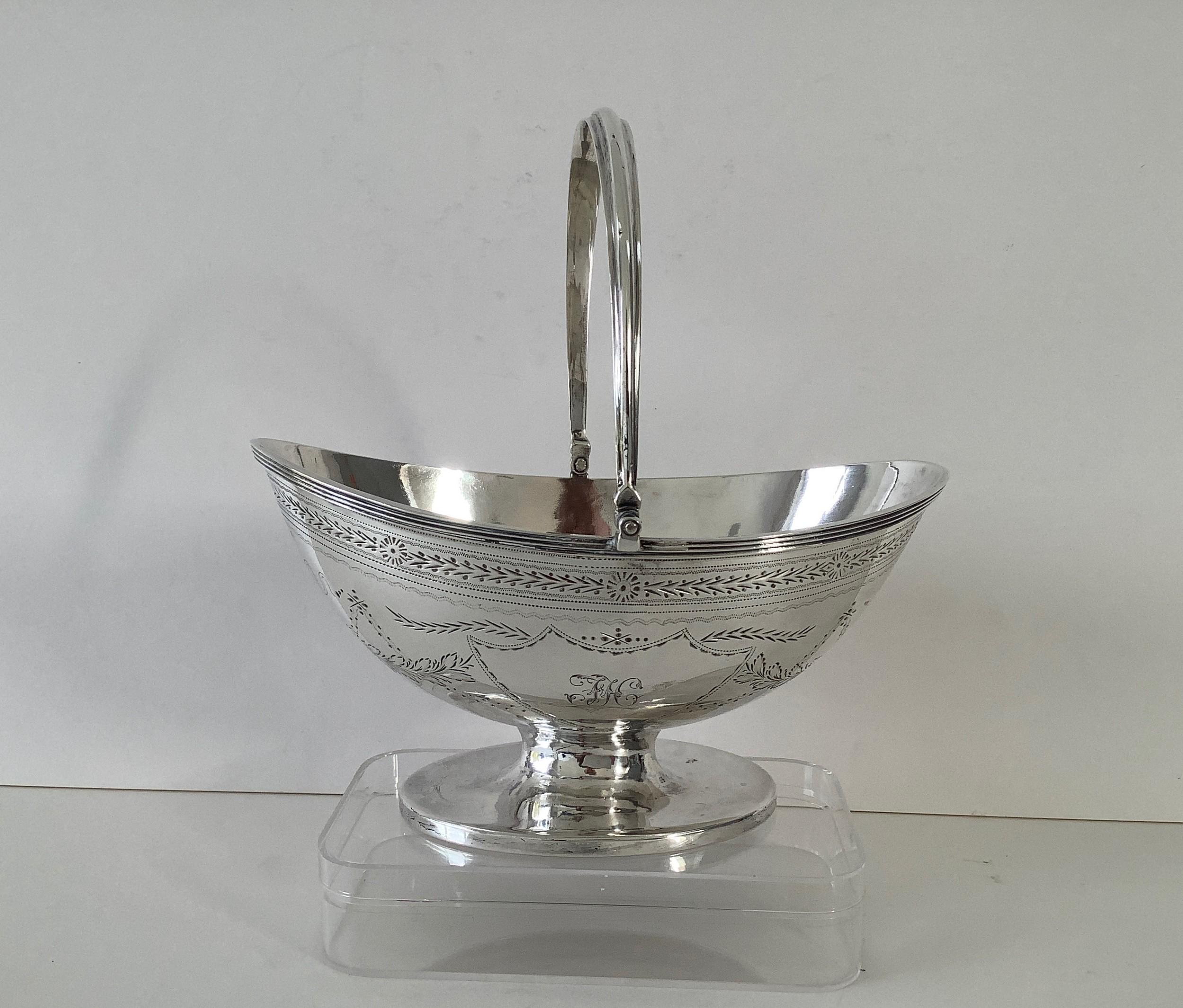 georgian silver sugar basket 1812