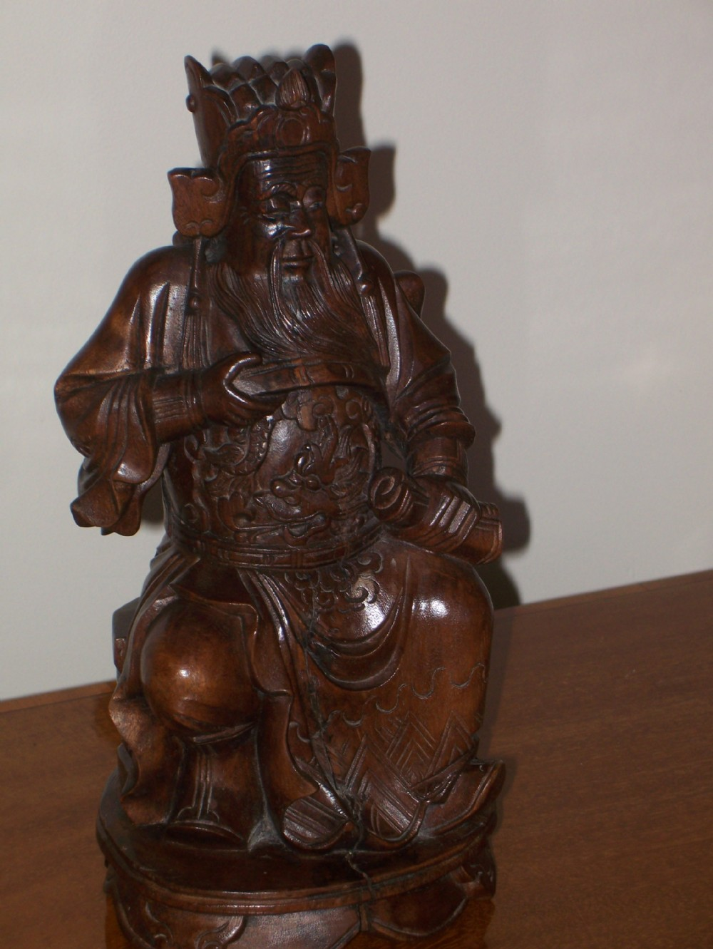 Antique chinese carved wood figure 250287 for Asian antiques uk
