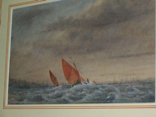 fine 19th c marine watercolour signed mcd