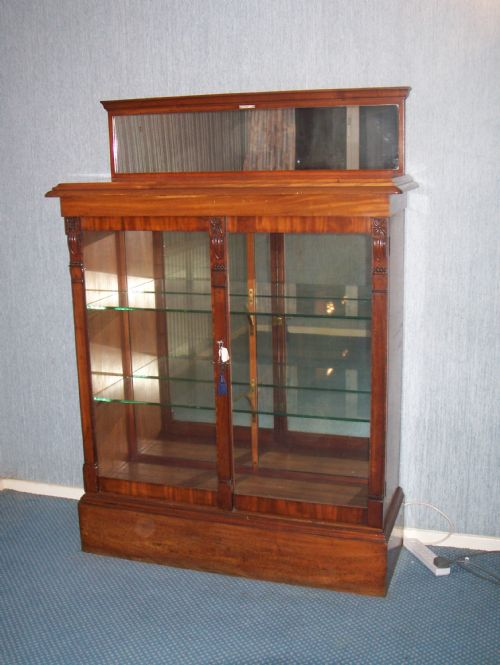 victorian mirror back display cabinet