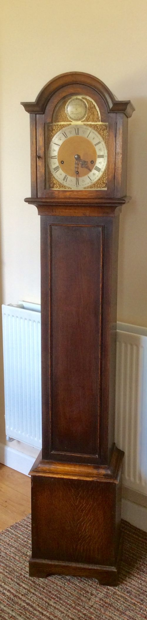 westminster chiming small grandfather or grandmother longcase clock
