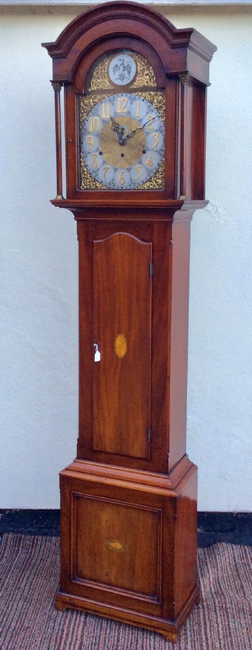 edwardian triple weightcable westminster chiming mahogany with shell decorations longcase clock