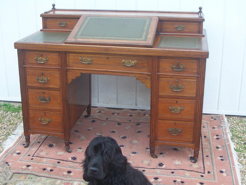 victorian twin pedestal dickens style desk