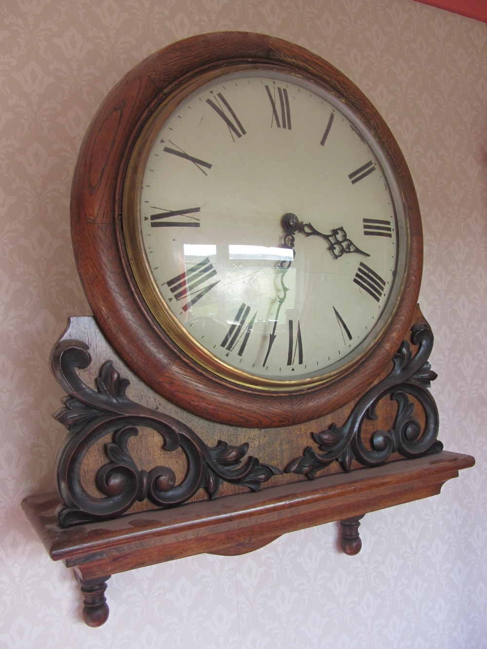 early 19th century convex glass dial a frame fusee wall clock