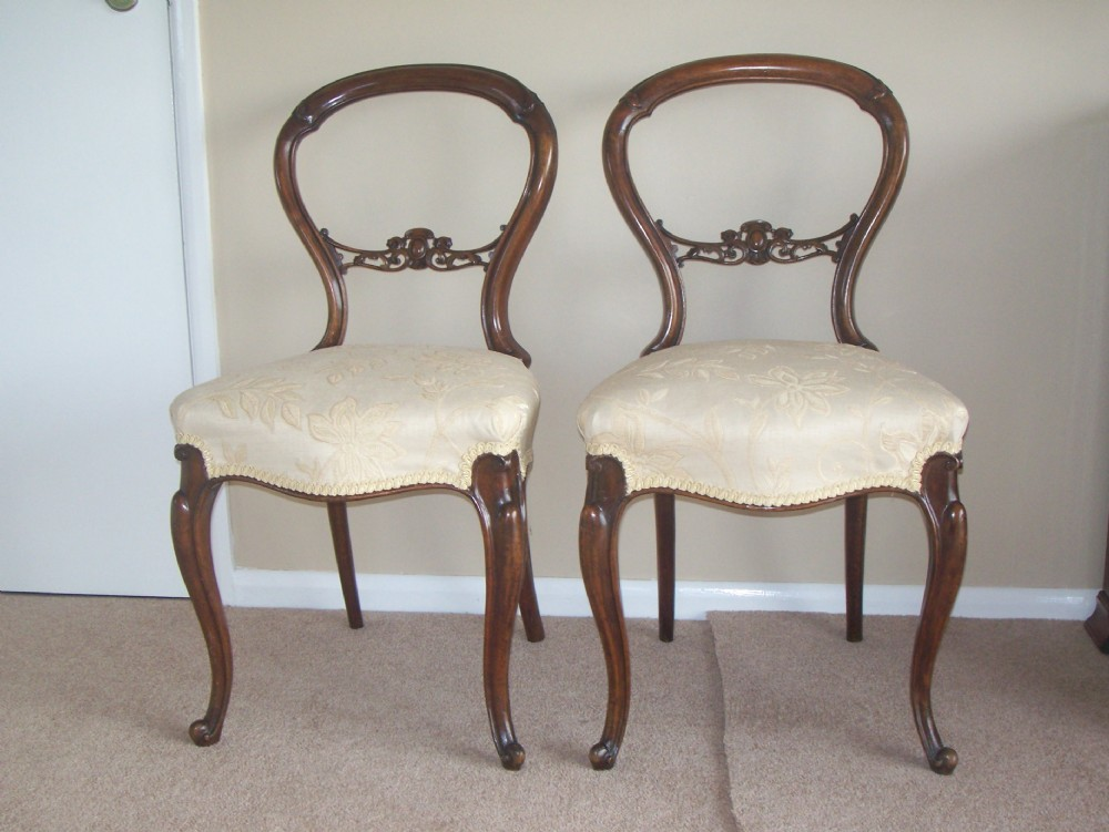Good Pair Of Victorian Balloon Back Chairs
