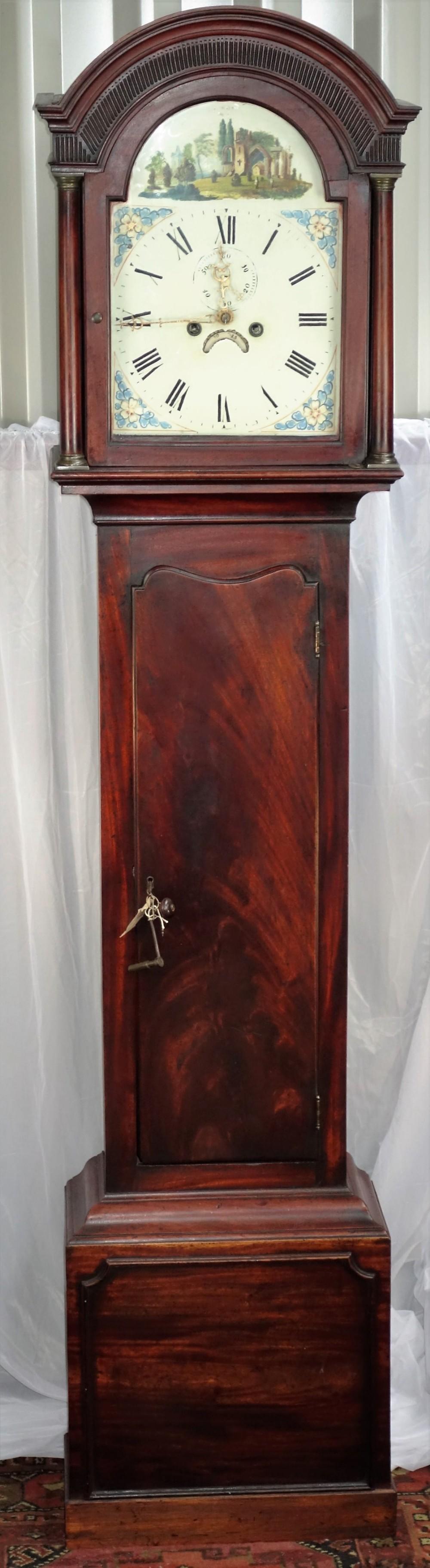 georgian george iii mahogany cased grandfather or longcase long case clock