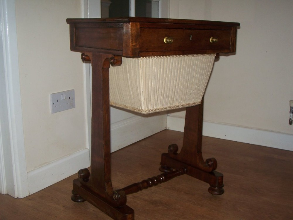 gillow stamped mahogany sewing or work table 438581. Black Bedroom Furniture Sets. Home Design Ideas