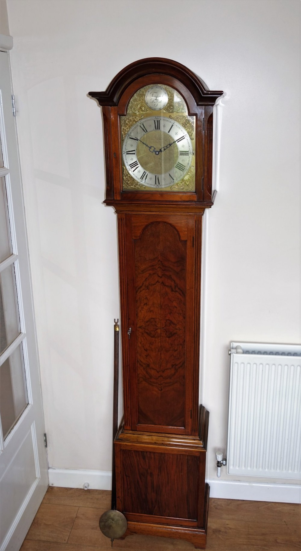 Fine Burr Walnut Triple Weight Grandfather Longcase Clock With Westminster Whittington St Michael Musical Chimes 460434 Sellingantiques Co Uk