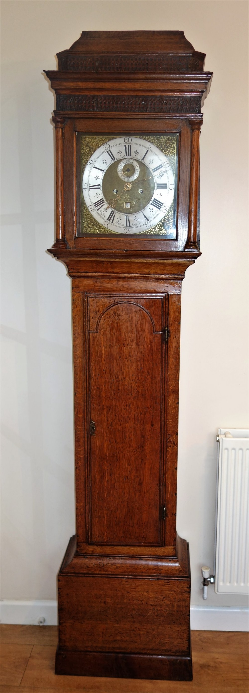 late 17th early 18th century charles ii james ii william mary anne to george i oak cased grandfather longcase clock no195