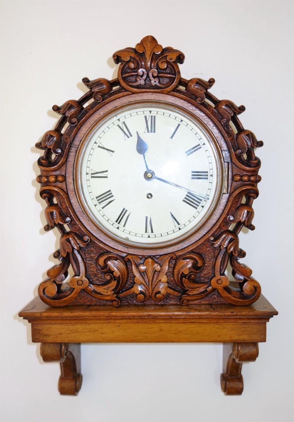 small 8 inch dial fusee bracket wall clock circa 187080