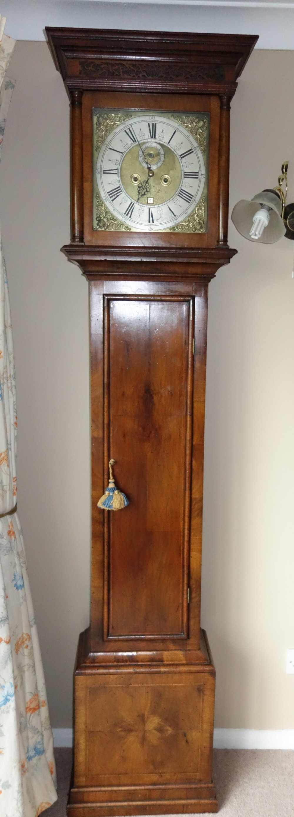 london cc1740 walnut 8 day grandfather longcase clock john harrington early georgian george ii or early george iii