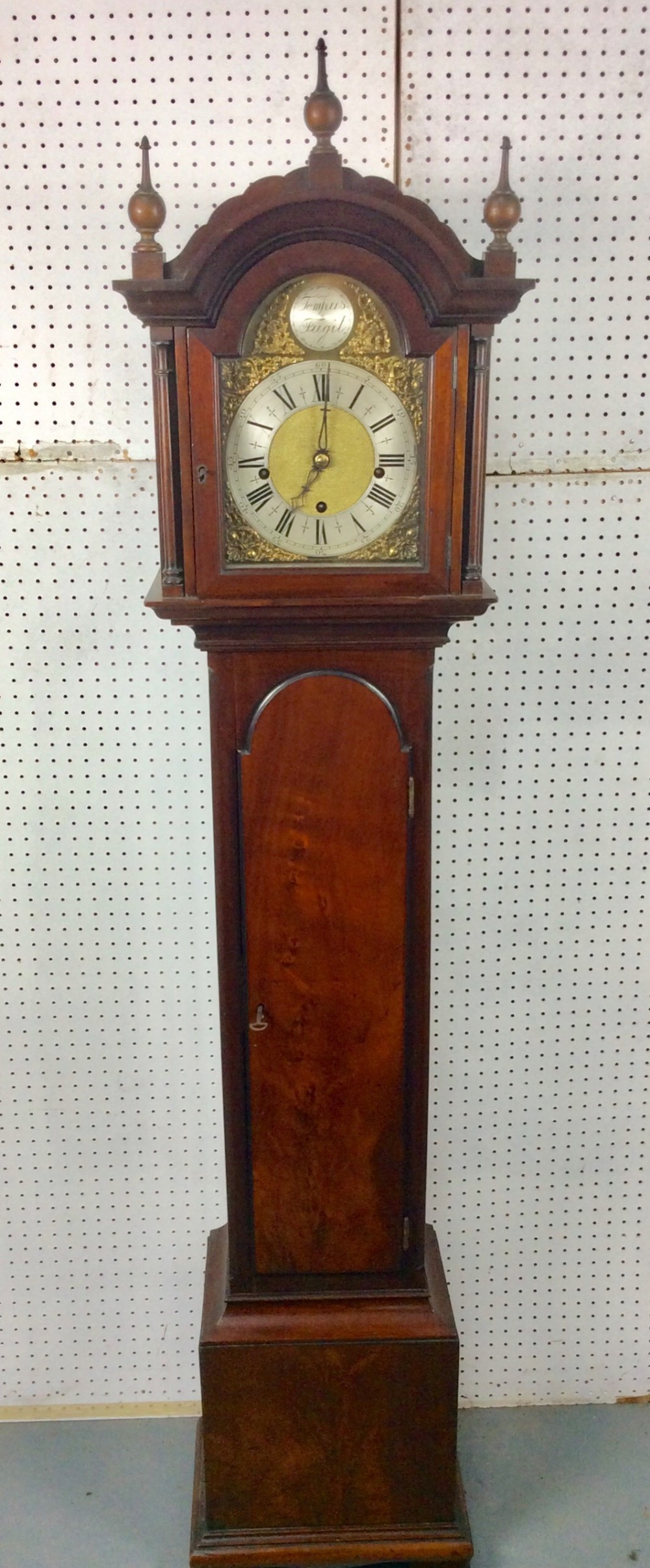 quarter chiming figured mahogany edwardian petite grandfather or grandmother longcase clock