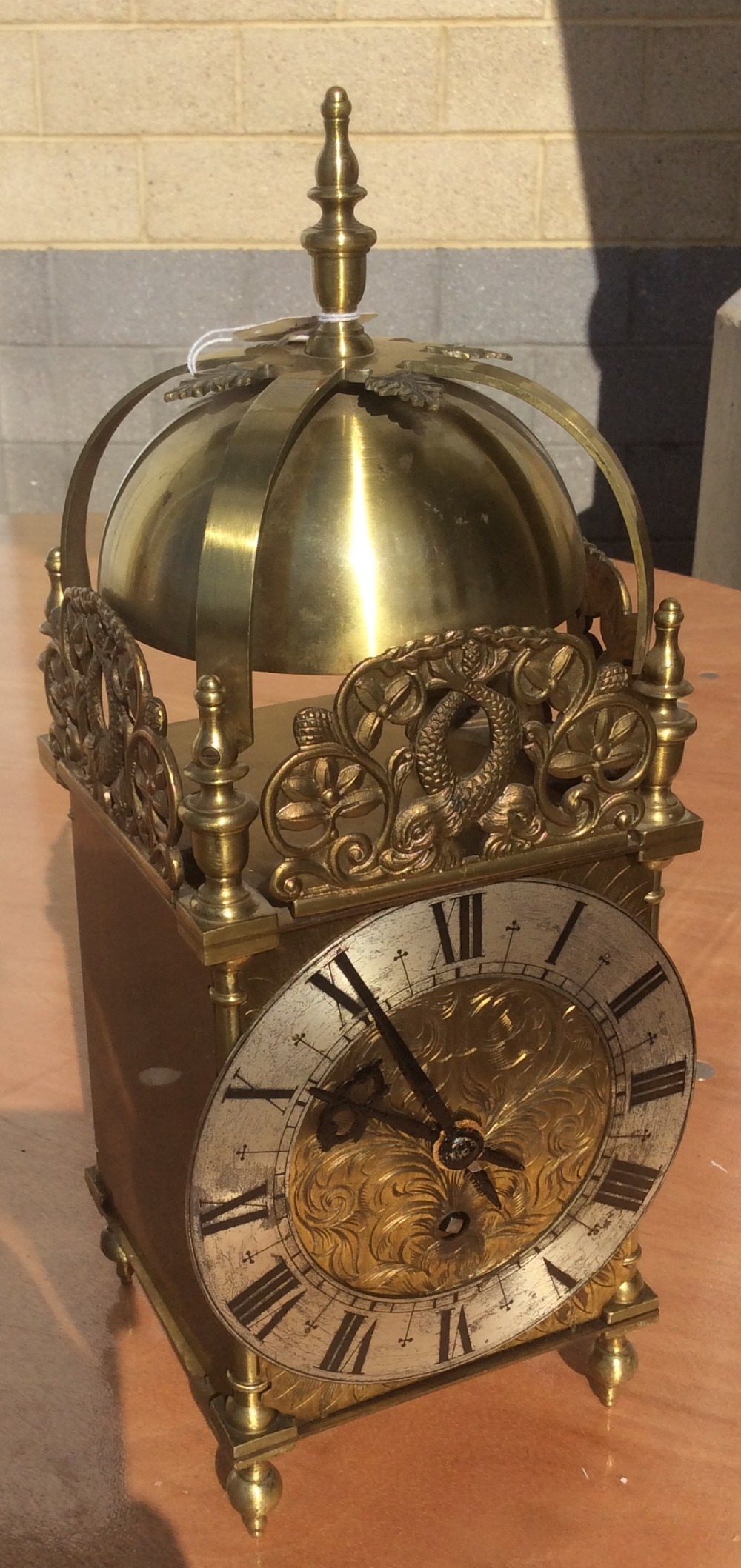 late 19th century brass lantern clock timepiece