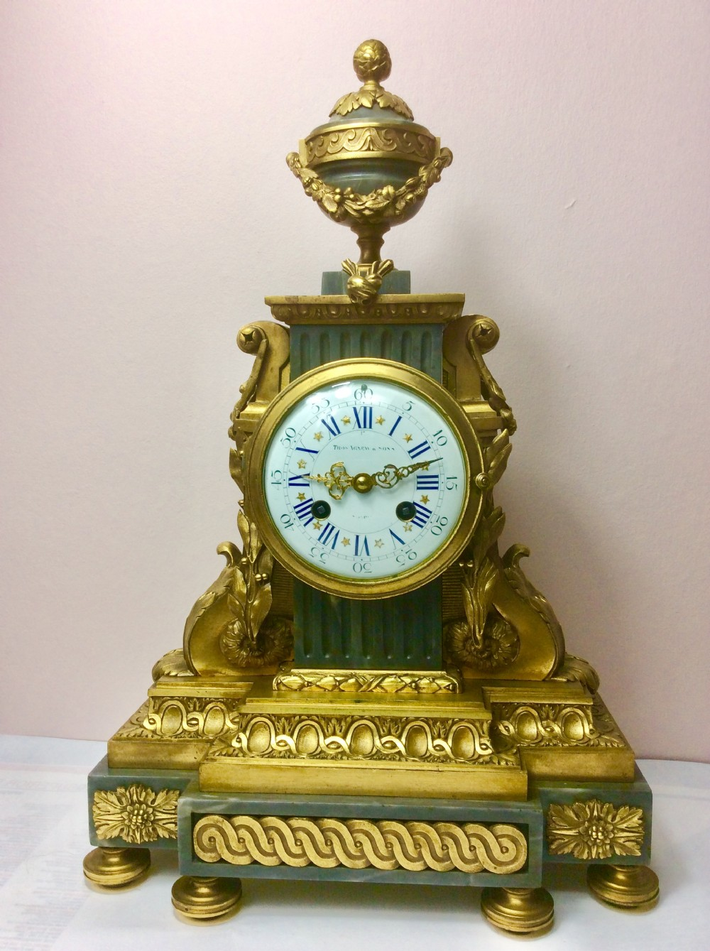fabulous charpentier foundry gilt ormolu cased 8 day french striking clock made specially for thos agnew sons