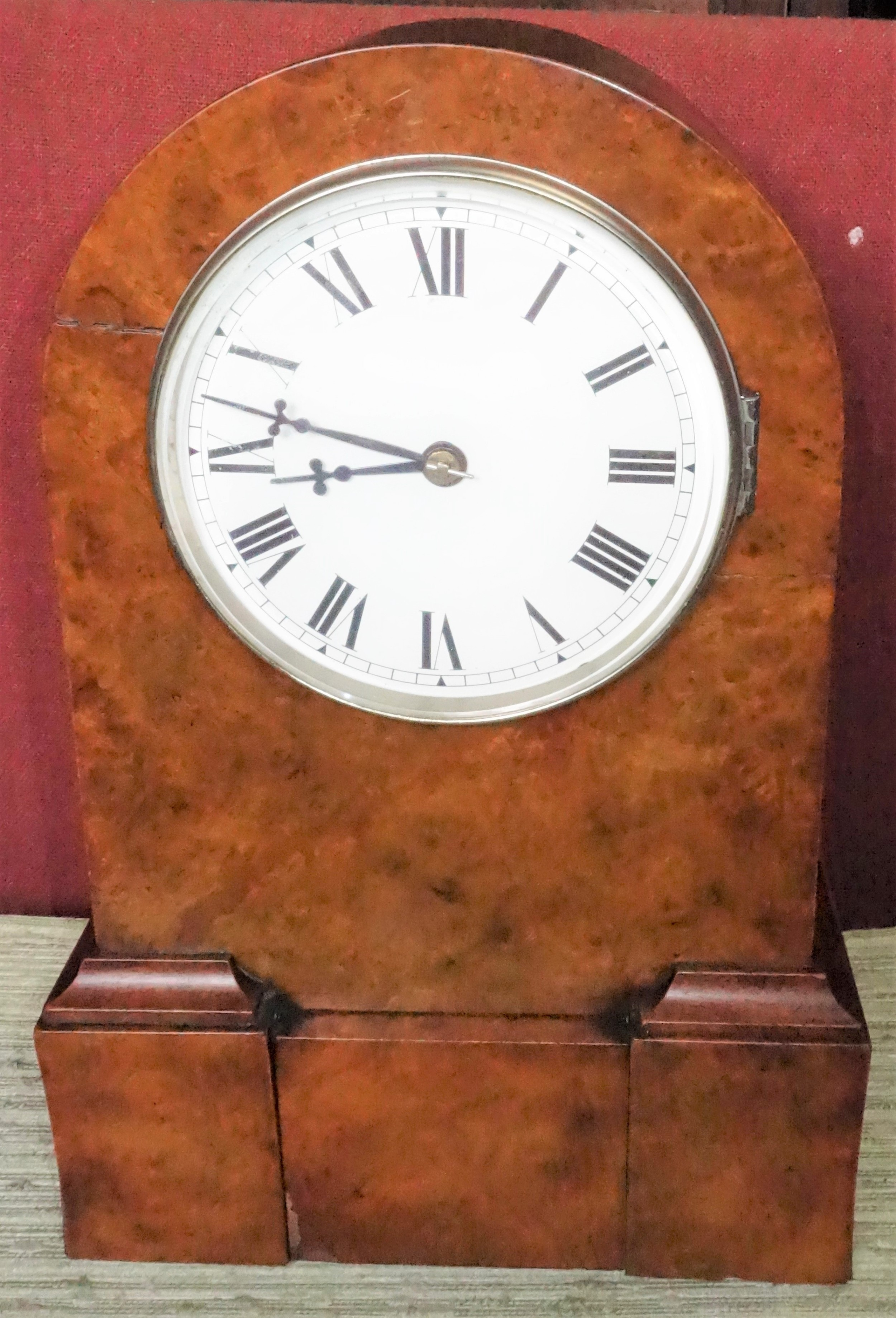 late 19th century burr walnut cased 8 day striking mantelmantle clock circa 1890 with secrets