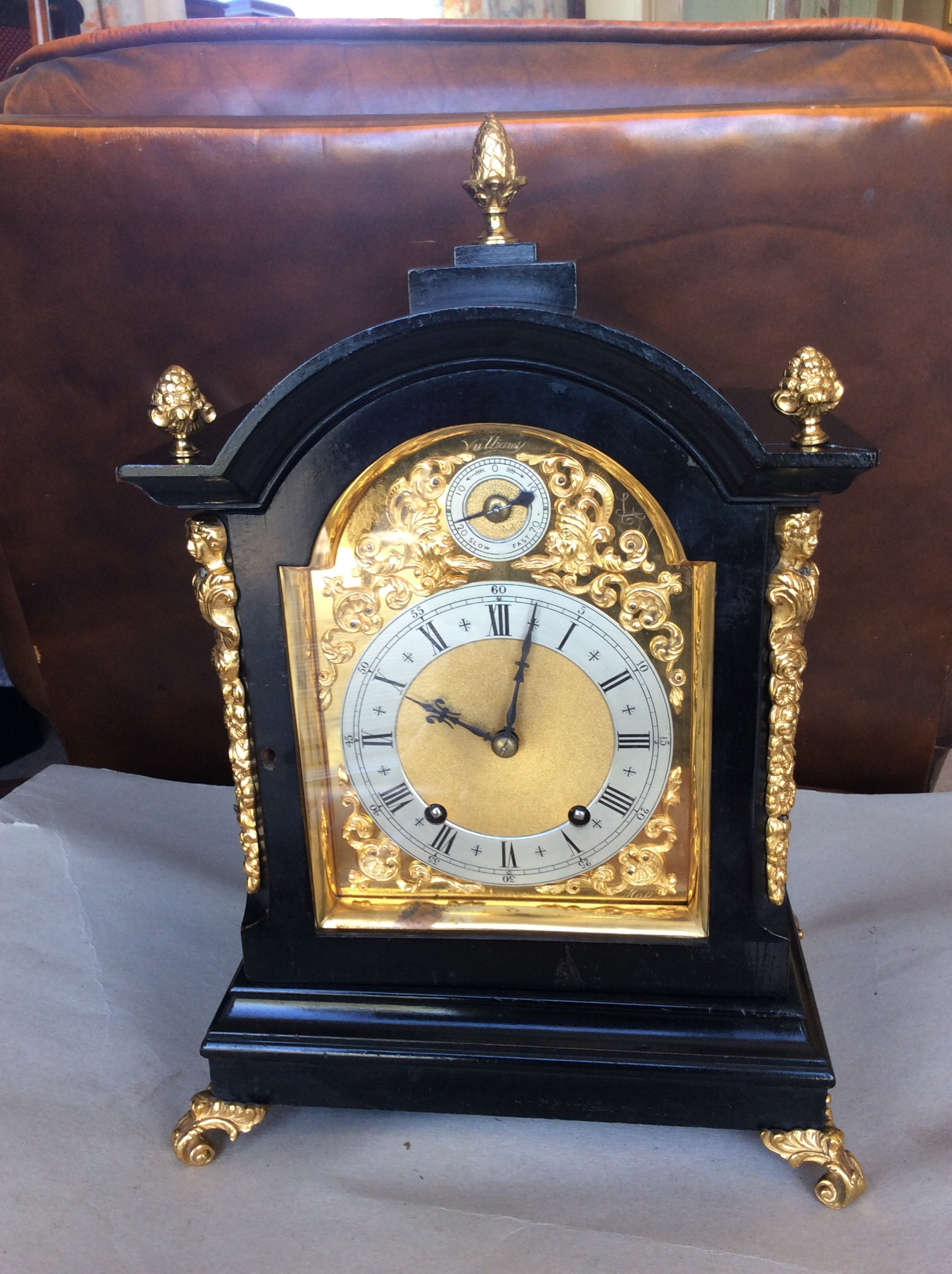 quarter striking 19th c bracketmantelmantle clock vulliamy who were suppliers to the crown