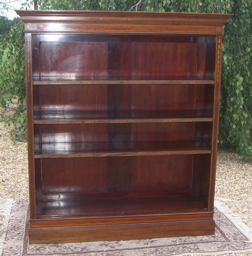 Old Bookcase Uk : Edwardian mahogany open bookcase