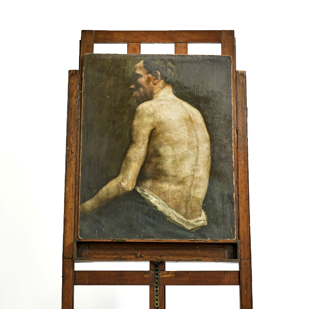 large edwardian oil painting