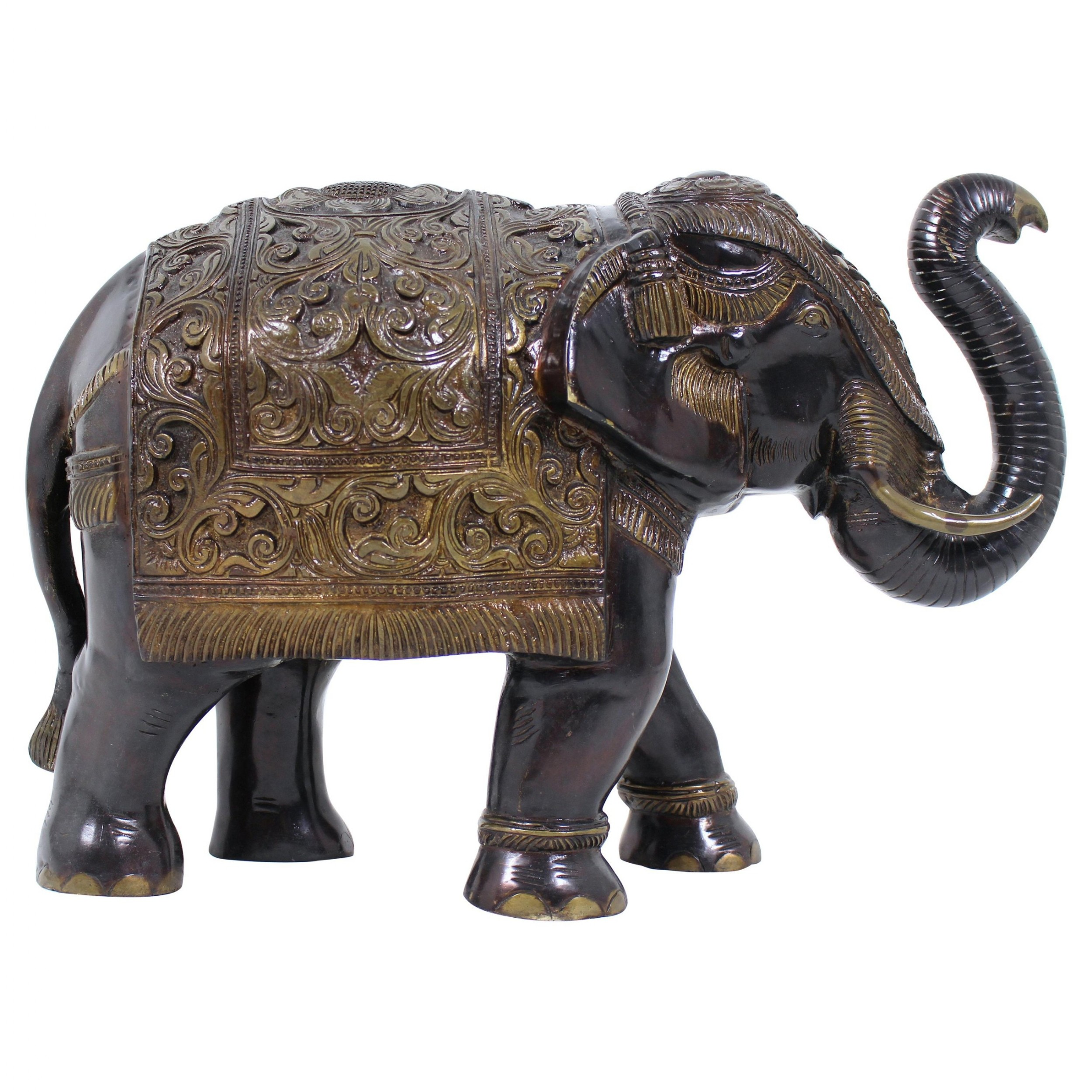 mid20th century large indian bronze elephant