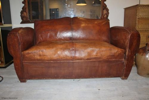 A 1920 39 S Leather Sofa Bed 282794