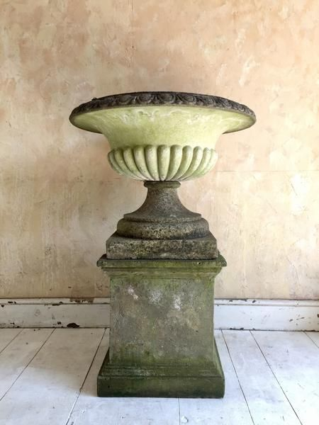 urn on pedestal